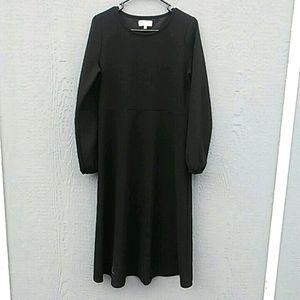 Madewell | Texture and Thread black midi dress